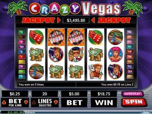 """""""Crazy Vegas"""" es una stragaperras con Jackpot Progresivo y en cada tirada un porcentaje se va sumando al jackpot inicial"""